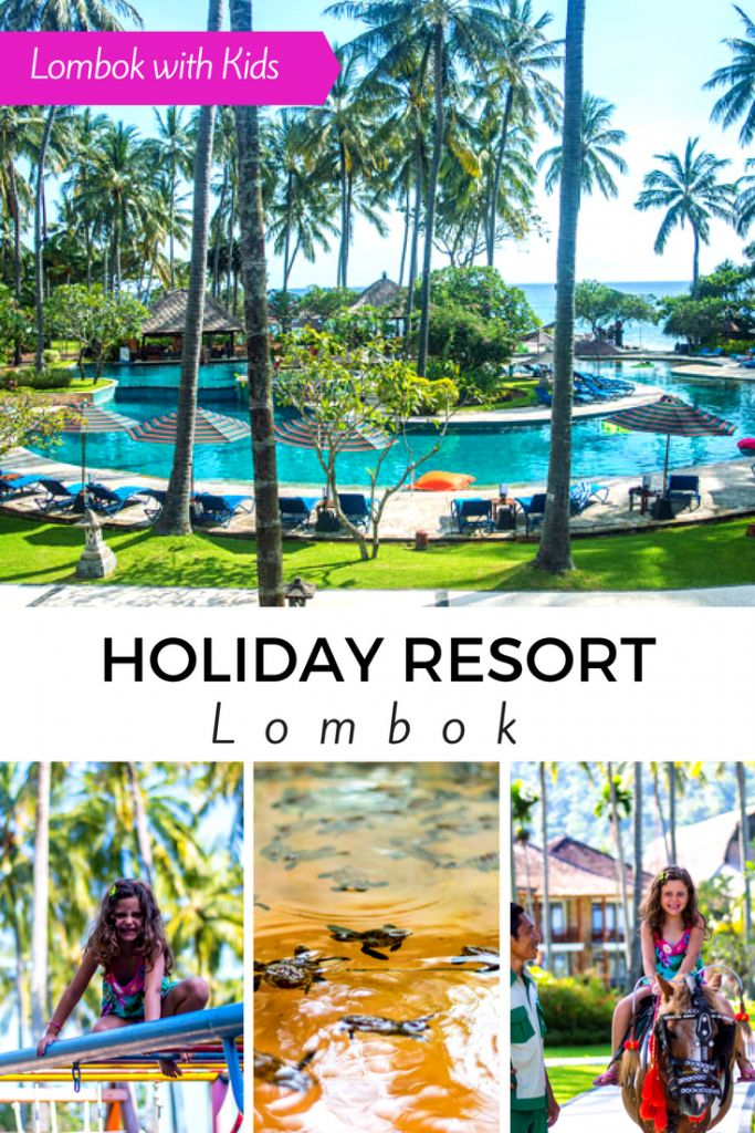 The Holiday Resort Lombok is located on the islands west coast, a 5-minute drive out of Senggigi & is a great resort for a holiday in Lombok with kids.