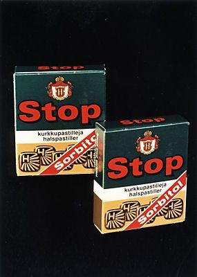 Stop-pastillit, aikuisempaan makuun. Paremman puutteessa menivät nämäkin. #kadonnutkasari #kasari