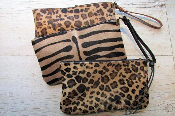 Embrayage de léopard, Animal print clutch, portefeuille Leopard, embrayage de fourrure, poche, soir d'embrayage