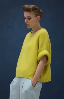 Elk Accessories Rolled Knit Sweater