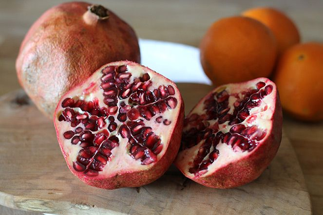 Pomegranate and orange juice!