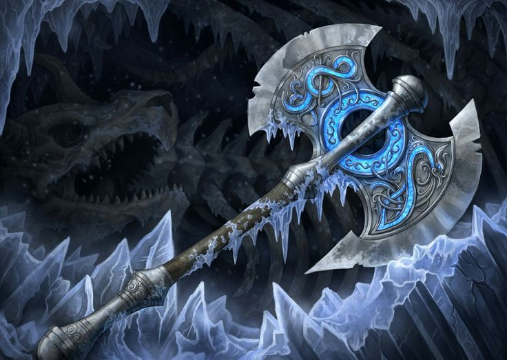 Boreas' Battleblade. The tremendous strikes dealt by this axe crack and shatter flesh as if it were ice.