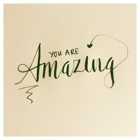You Are Amazing: 380 Best Hand Lettering & Calligraphy Images On Pinterest