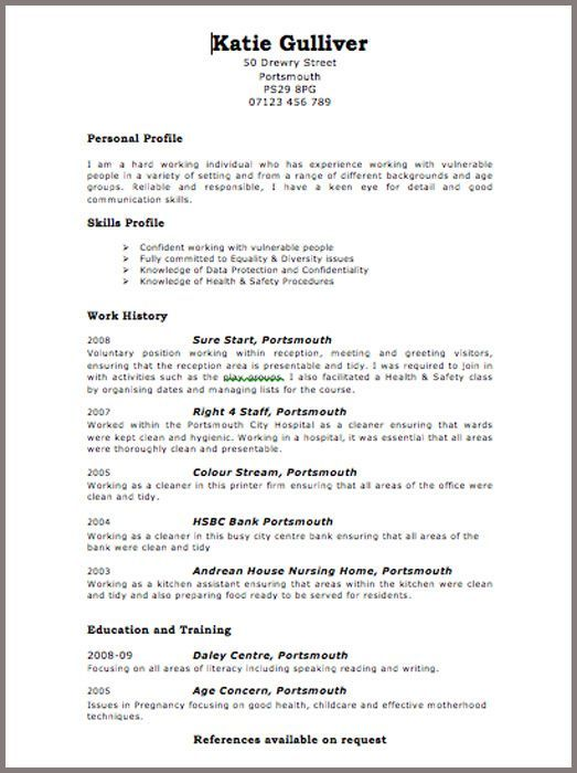 Cv Format In Uk How To Write A Cv Tips For 2019 With