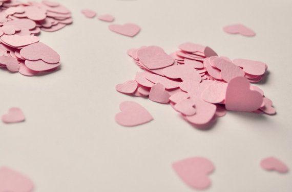 450 Coriandoli a cuore rosa in 2 misure per di BrightSpotOfColour, €4.00