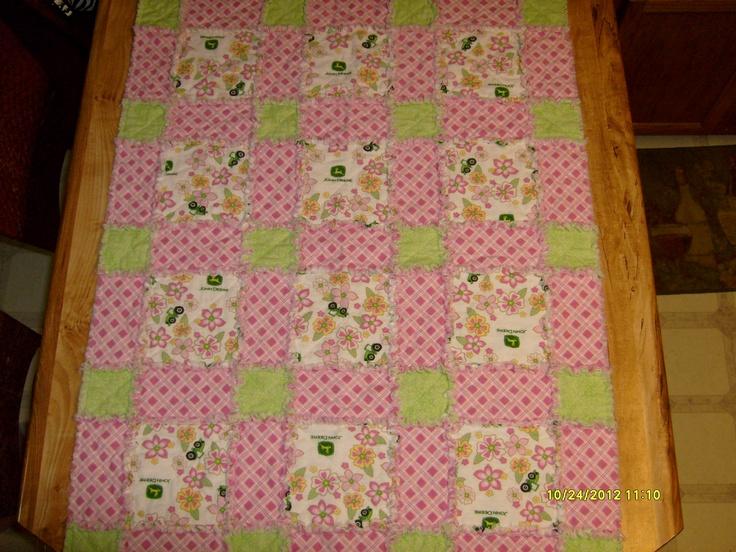 John Deere rag quilt-for Faith Ann!     2012