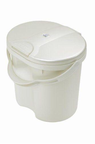 Rotho Babydesign 20002 0100 Top - Cubo de basura para pañales, color blanco perlado