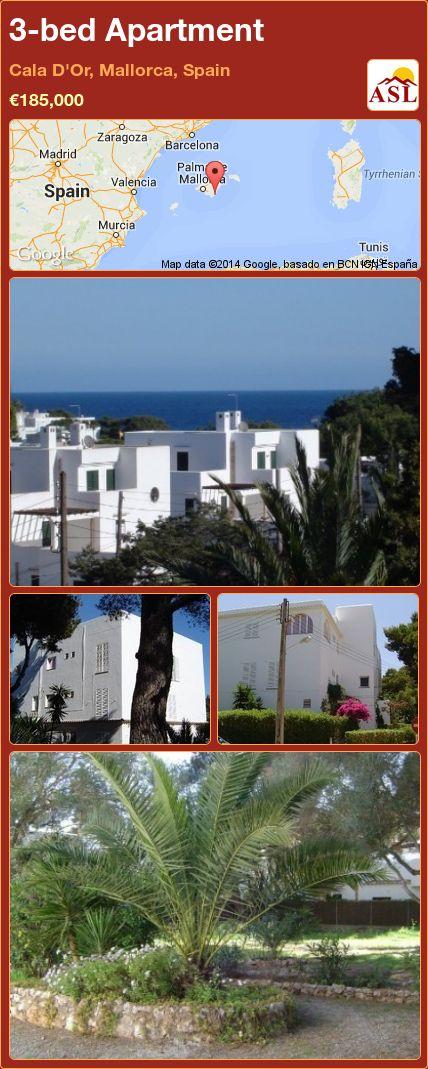 3-bed Apartment in Cala D'Or, Mallorca, Spain ►€185,000 #PropertyForSaleInSpain