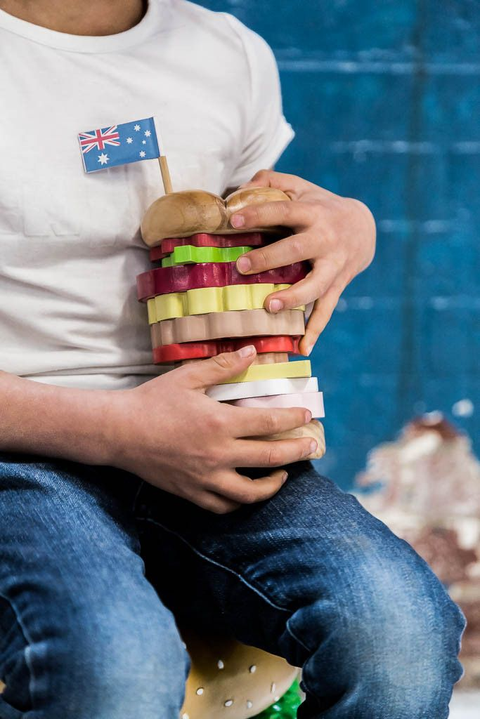 iconic toy stacking - burger – www.makemeiconic.com These are coming in soon and so adorable!