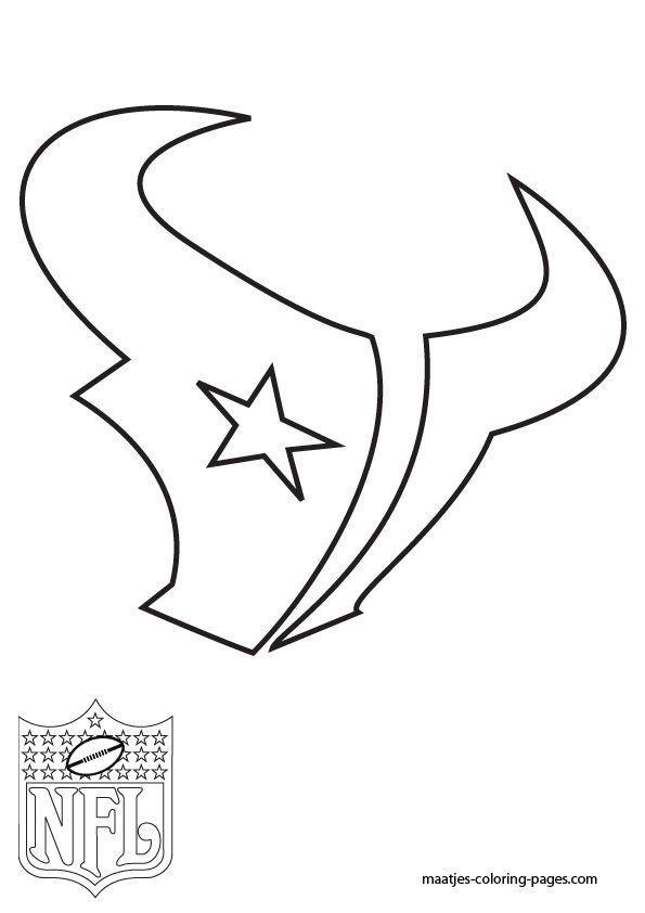 Free template stencil houston texans nfl texans for Nfl team coloring pages