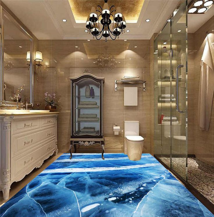 13 best salle de bain rev tement de sol salle de bain trompe l 39 il 3d images on pinterest. Black Bedroom Furniture Sets. Home Design Ideas