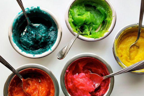 peinture à doigts - recette maison peinture bébé