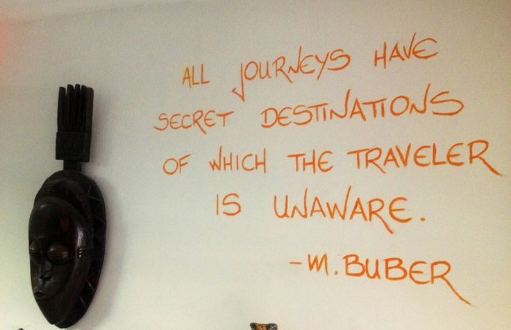 Inspirational travel quotes around the hostel ;)