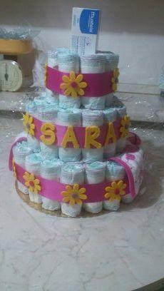 Un #Battesimo molto speciale...la mia #torta #pannolini - #tutorial