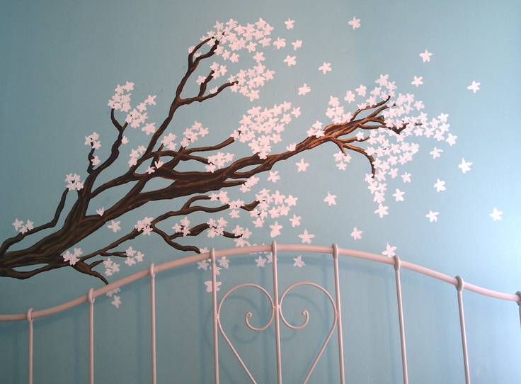10 best kid stuff images on pinterest crafts ideas and diy for Cherry tree mural