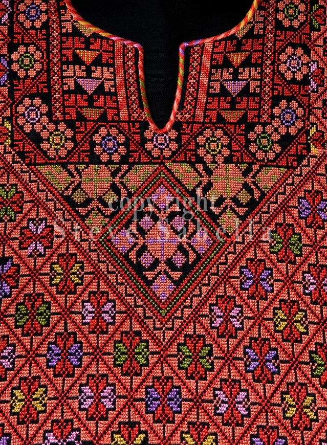 Close Ups of Palestinian Traditional embroidery