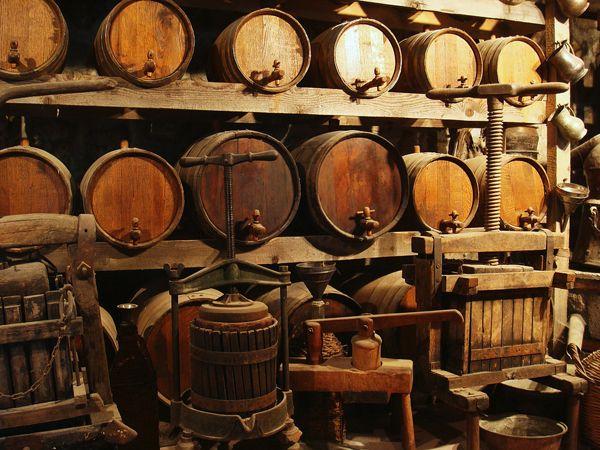 Monasteries of Meteora | Wine barrels