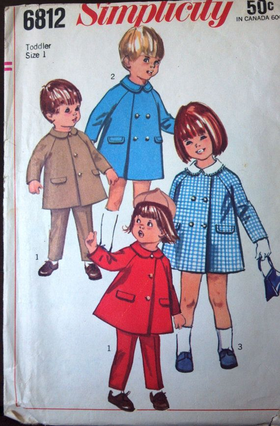 Simplicity 6812 Pattern for Toddler's Coat by VictorianWardrobe, $6.00