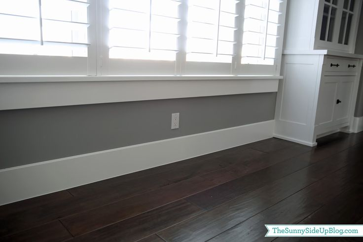 Sunny Side Up: Formal Dining Room (window casing/base boards/ plantation shutters)