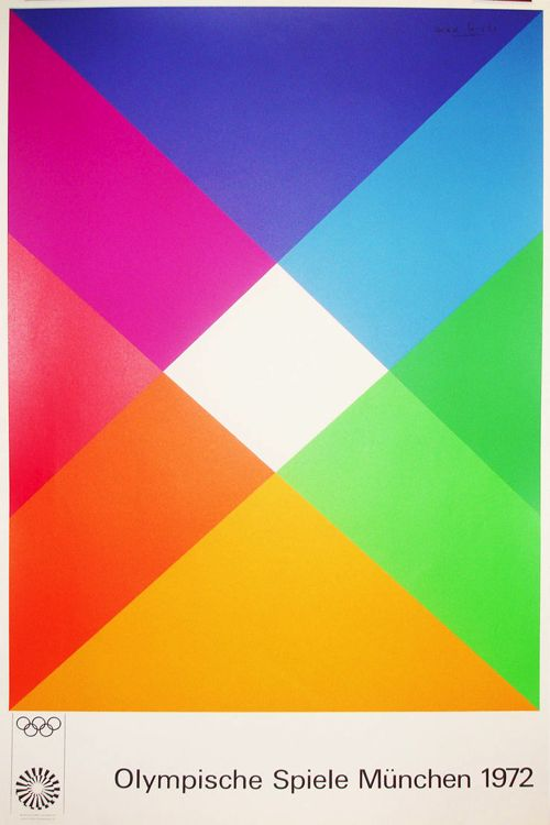 Olympic Games Munich / Max Bill / Poster / 1972
