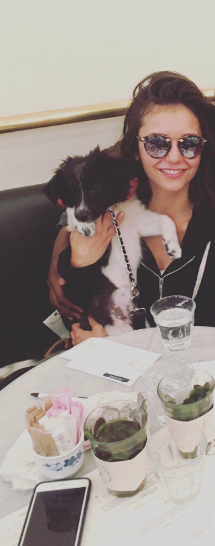 Nina Dobrev & her puppy 2017