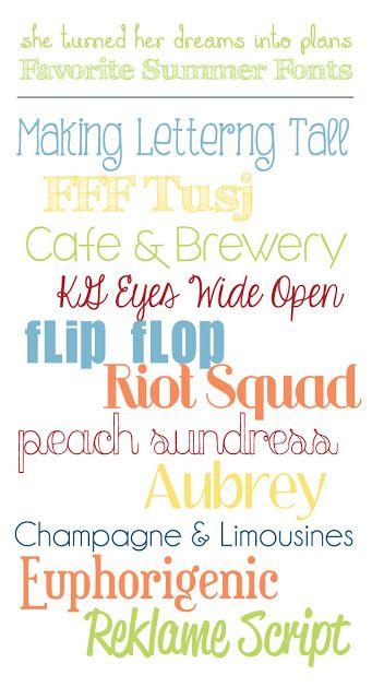 (Free) Summer Fonts