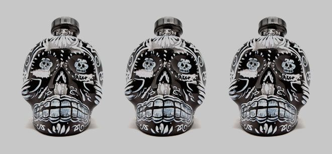 KAH Tequila Extra Añejo It's four and a half years of aging in American oak barrels makes it worthy of the list, but the skull-shaped bottle bedazzled with 700 Swarovski crystals is what really stands out