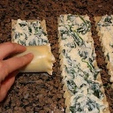 Spinach Lasagna Roll-Ups  -  Good, but nothing particularly special