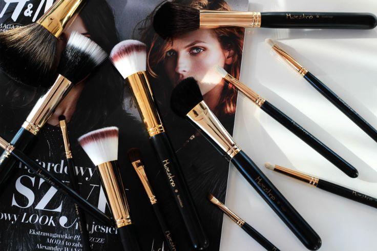 Kosmetyczna Hedonistka: Beauty | Lifestyle: MAESTRO GOLD ZŁOTA KOLEKCJA - RĘCZNIE ROBIONE PĘDZLE DO MAKIJAŻU TWARZY I OCZU. PREZENTACJA.