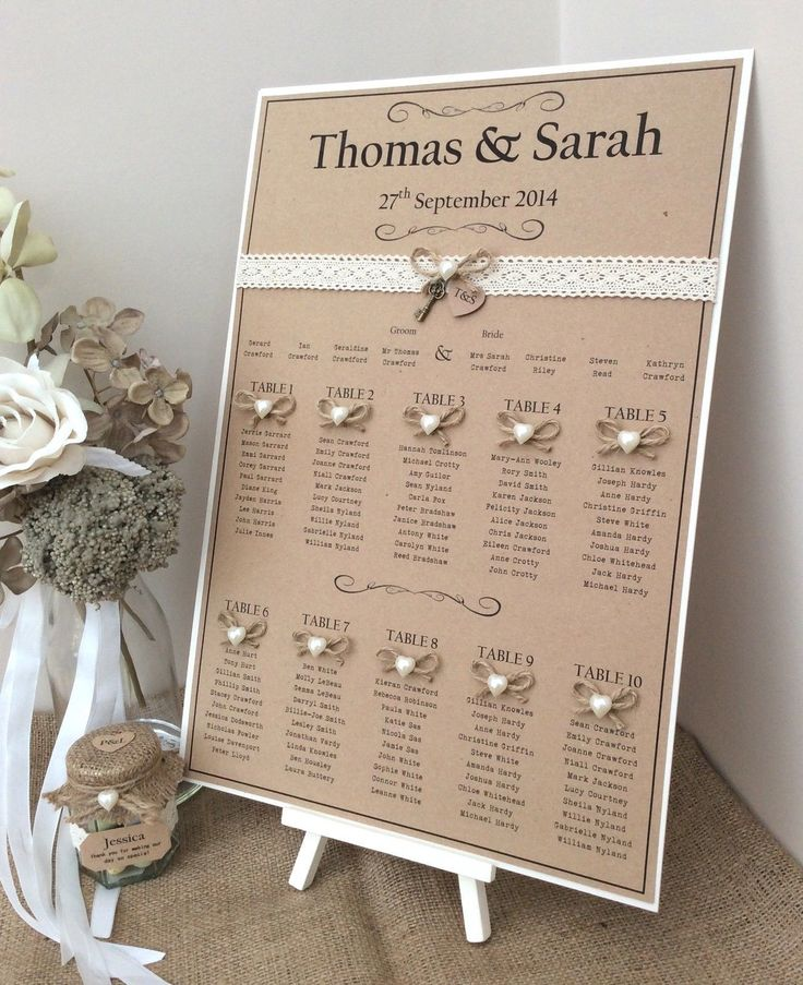 Rustic/Shabby Chic A3 Wedding Table Seating Plan | eBay