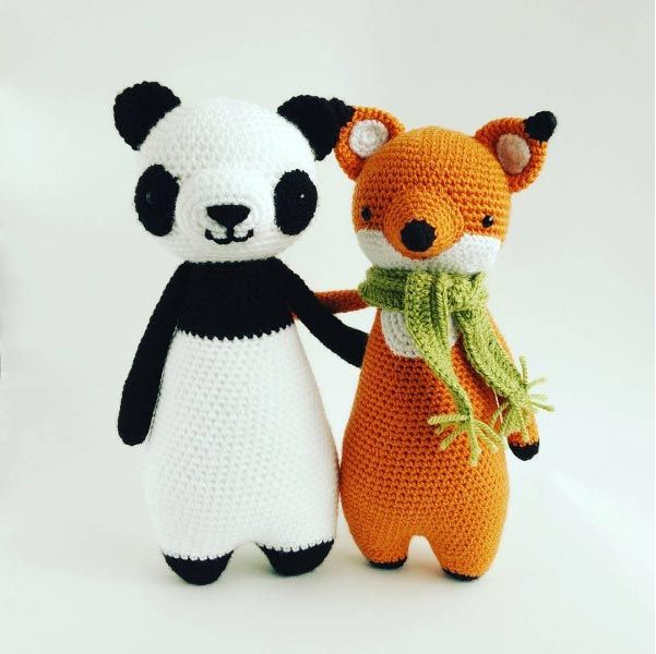 Amigurumi Big Heart : Tall Panda amigurumi pattern by Little Bear Crochet ...