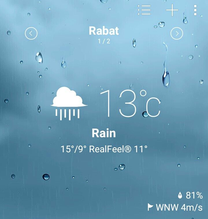 Il chteut à #Rabat! Quel temps fait à votre ville?  #Maroc #Météo #Weather #Cvlogy