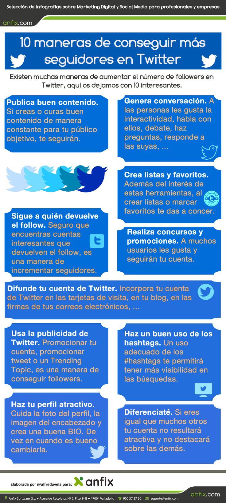 10 maneras de conseguir más seguidores en Twitter
