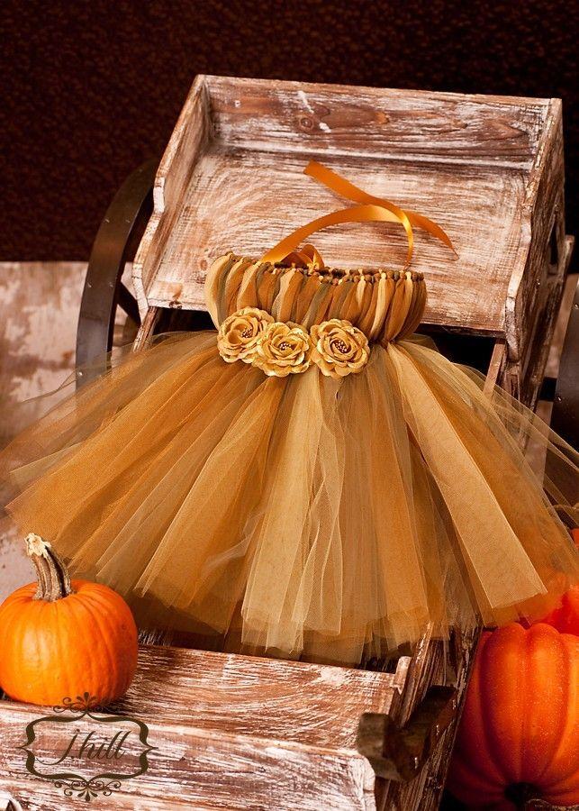 Fall Tutu Dress Holiday Dress Baby Tutu Infant by houseoftutus. , via Etsy.