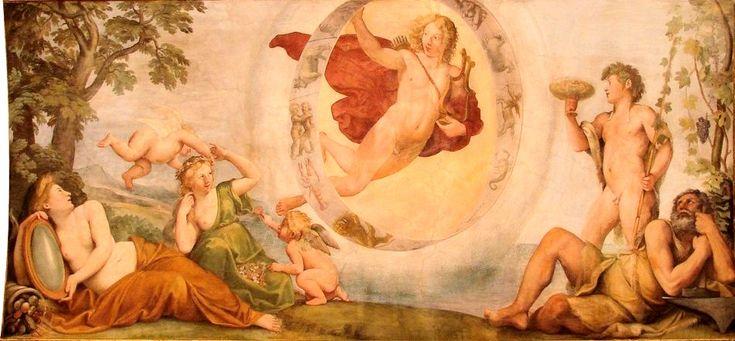 The Athenaeum - Palazzo Verospi - Apollo and the Four Seasons (Francesco Albani - )