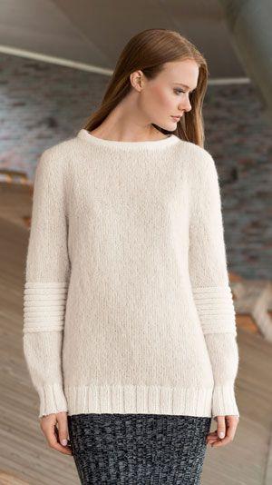 Hvid strikket sweater