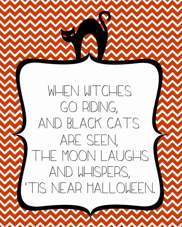 When Witches Go Riding — FREE Halloween Print