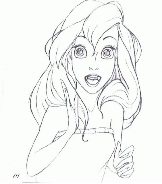 Disney Princesses - Preproduction Sketches (Ariel)