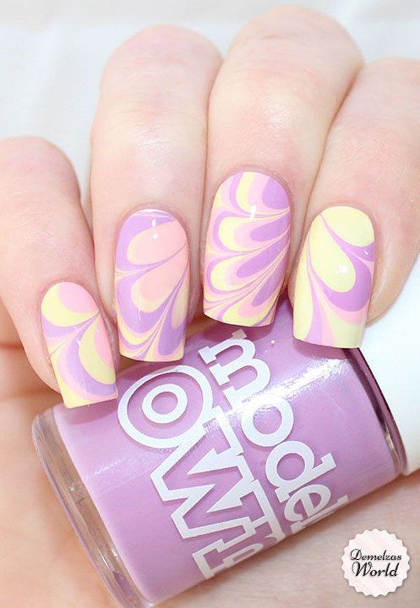 28 best Water marble nails images on Pinterest | Nail art designs ...