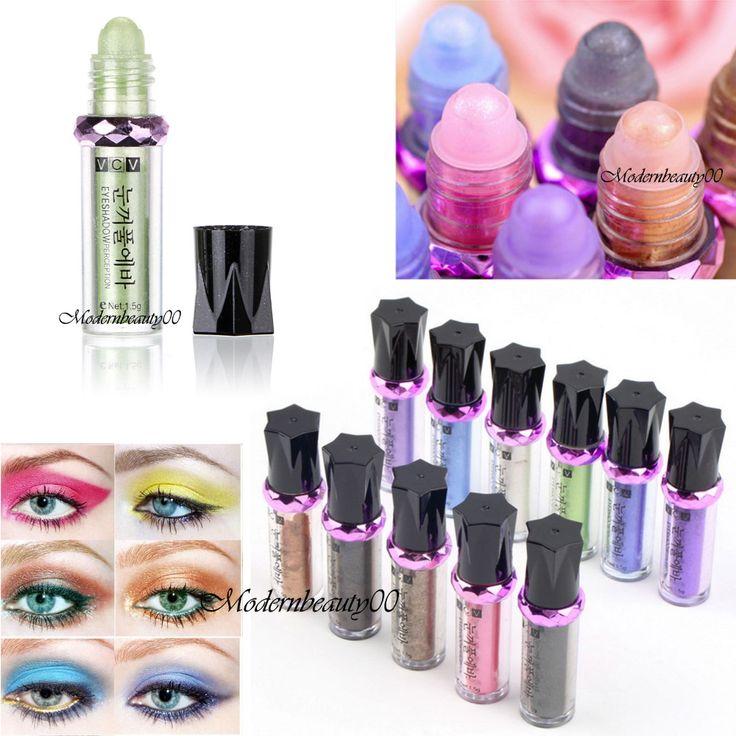 Hot enkele roller kleur oogschaduw glitter pigment losse poeder oogschaduw make