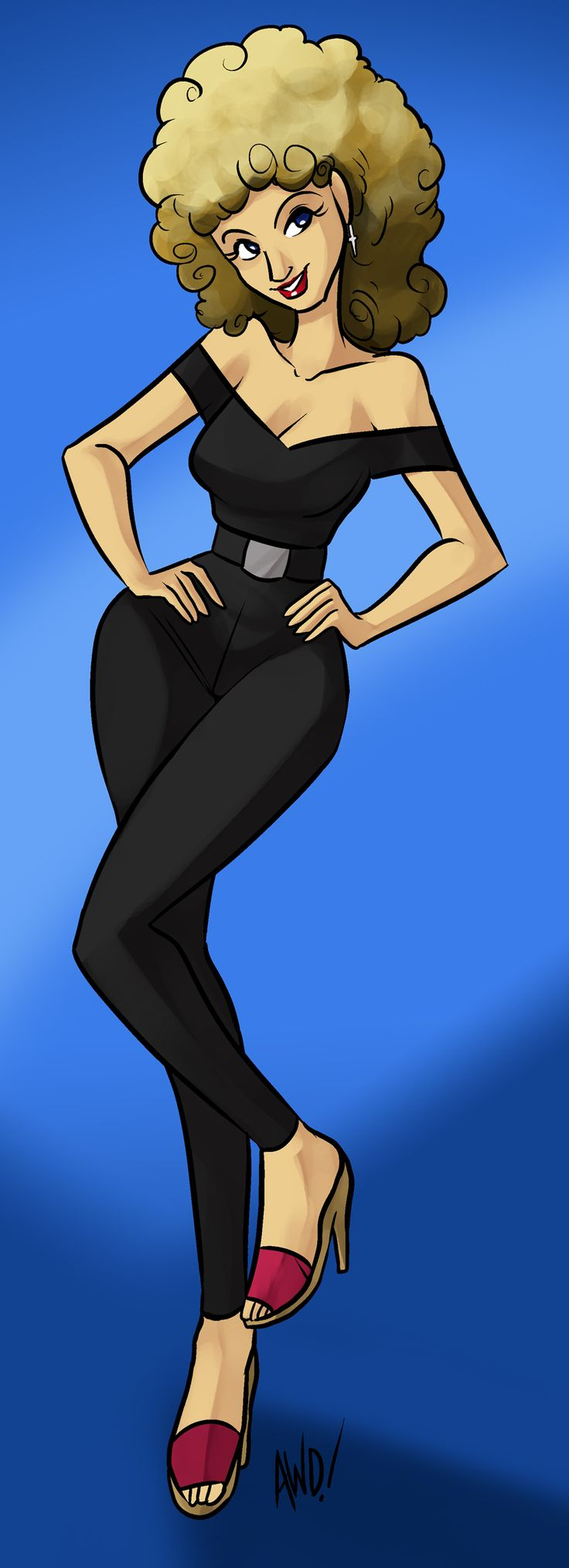 Sandy by way of Channel Awesome, courtesy of their go-to cartoonist and intro animator Andrew Dickman.