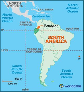 Ecuador's location in South America!