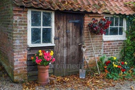11 best outbuilding ideas images on pinterest bricks for Brick garden shed designs