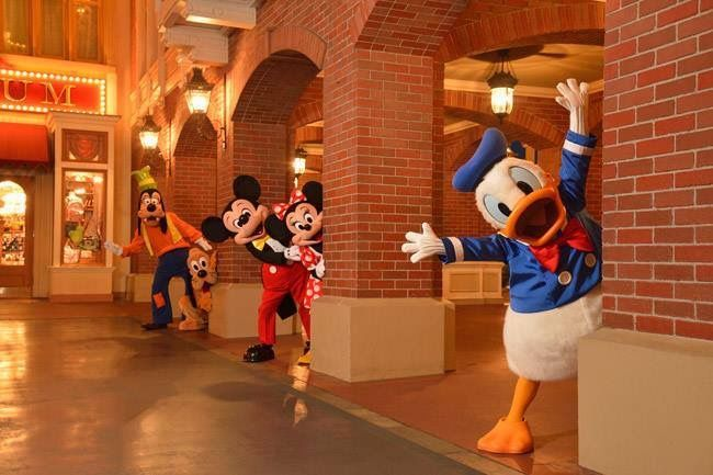 The Fab Five: Mickey Mouse, Minnie Mouse, Donald Duck, Goofy, and Pluto
