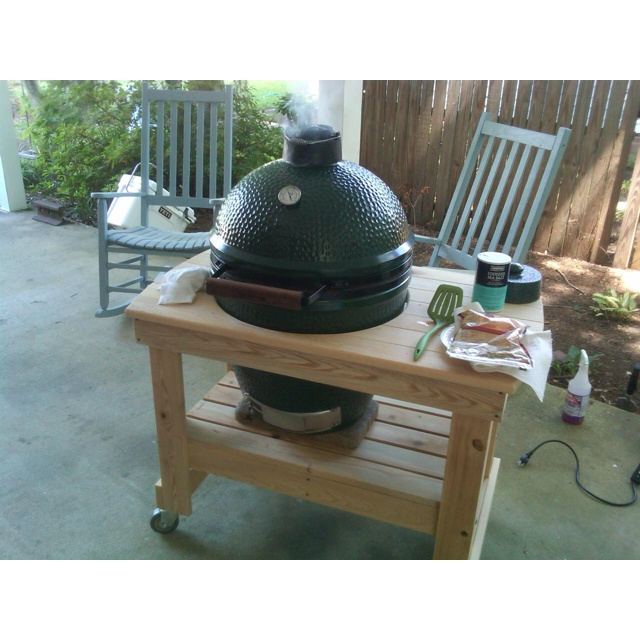 Philip's Big Green Egg grill