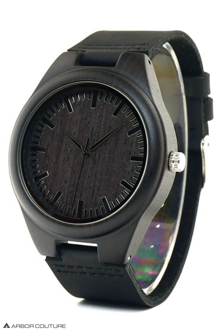 High-quality watches for men made from beautiful ebony wood and genuine leather | www.arborcouture.com | men's watch leather accessories, men's watch black, men's watch black leather, men's watch black matte, men's watch black affordable, men's watch black classy, men's watch black popular, men's watch black products, men's watch black style, men's watch black accessories, men's watch black menswear, men's watch black gifts, men's watch black guys, men's watch black classy