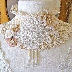 List of collar crochet patterns. Find a crochet fur collar pattern, crochet lady collar pattern, crochet lace collar pattern, crochet black velvet...