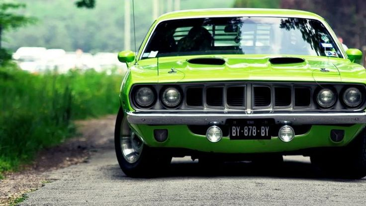 Free HD Wallpapers for your computer: Green Plymouth Barracuda