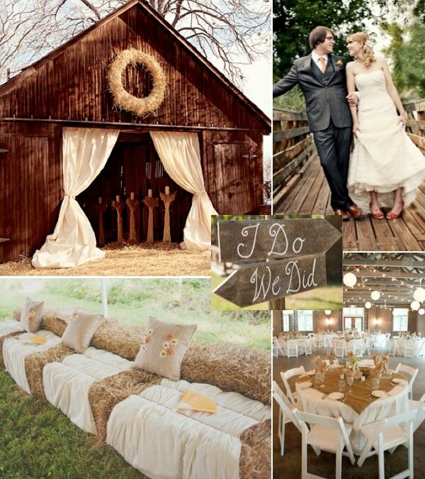 This Rustic Wedding Is Exactly What I Would Want The Barn Hay Bale Seating Sign And Reception In Tent Are All Amazing