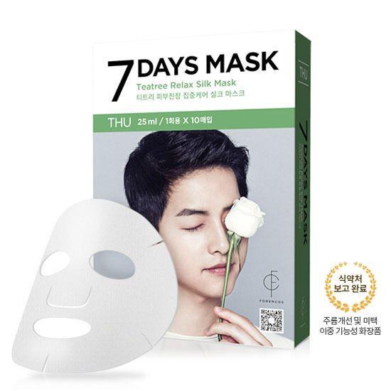 Korea Cosmetics Forencos Song Joong Ki 7Days Mask Packs Thursday 25ml X 10pcs #ForencosKBeauty